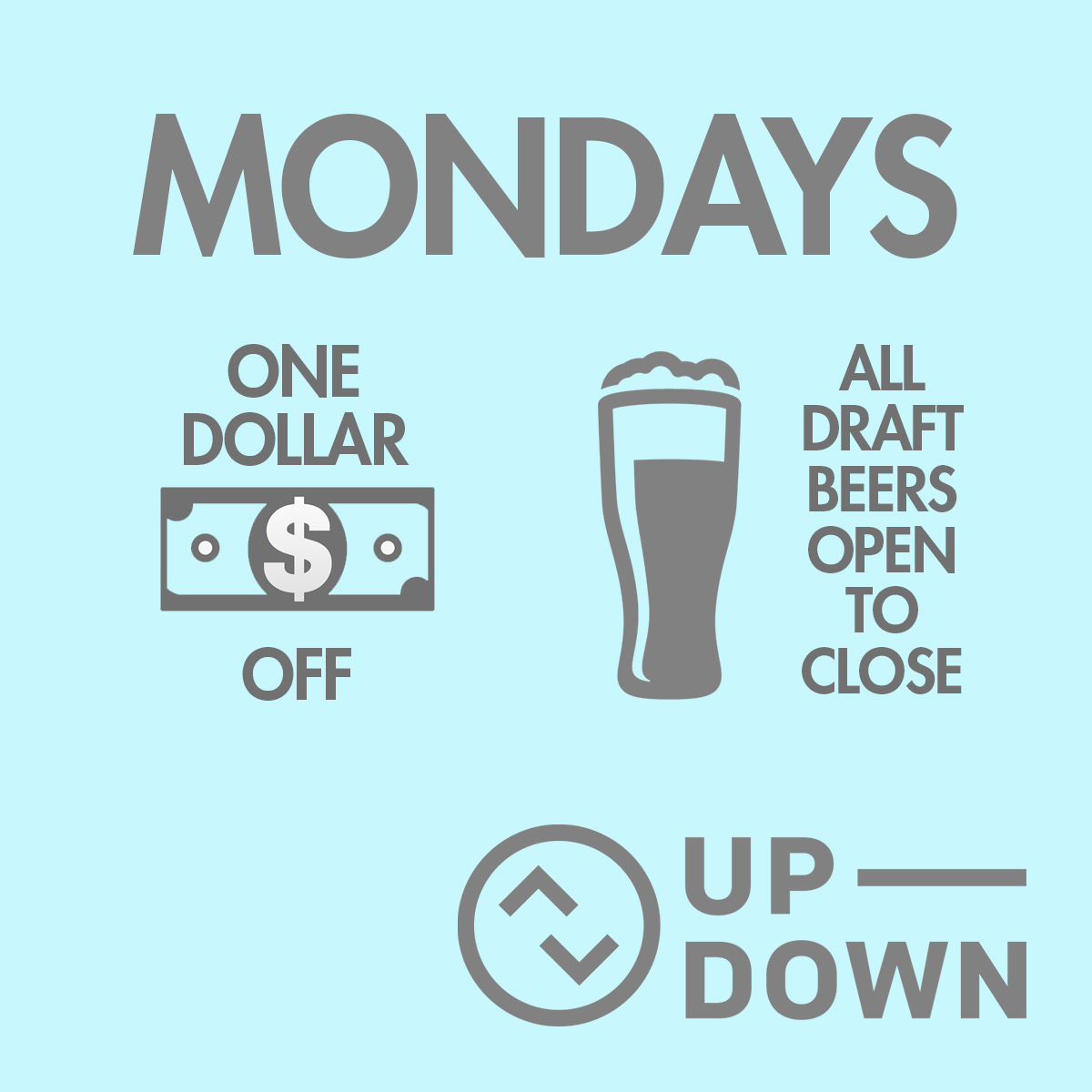 Up Down monday specials