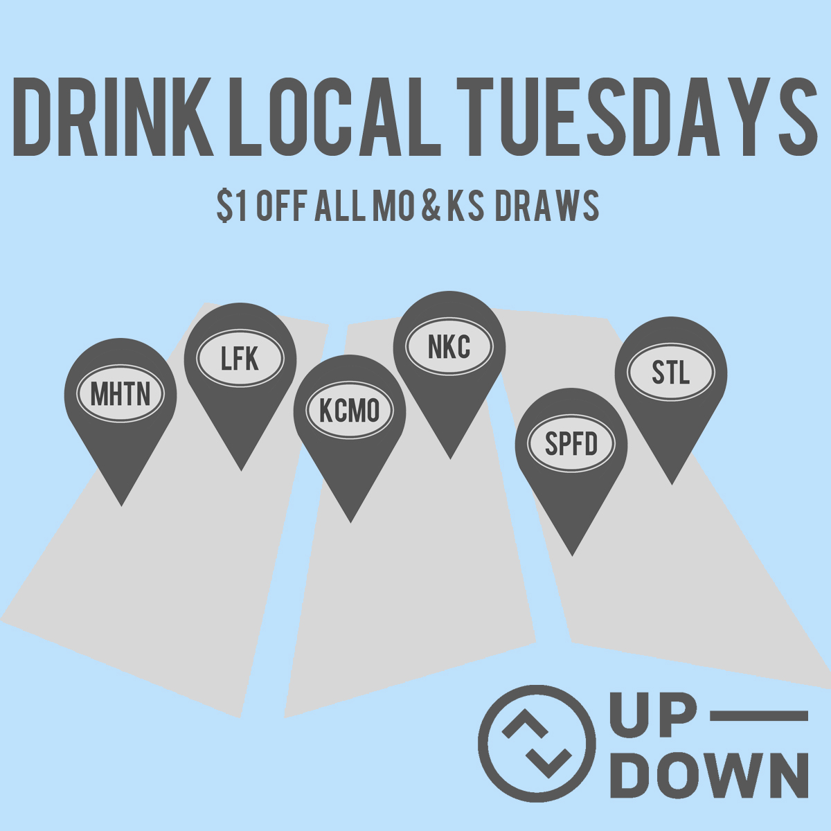 Up Down tuesday specials